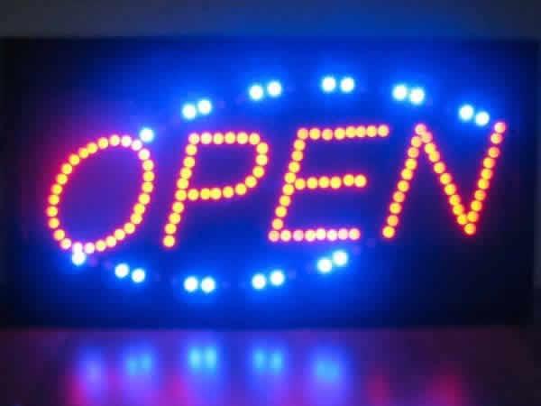 LED電飾看板 OPEN オープン イルミネーション